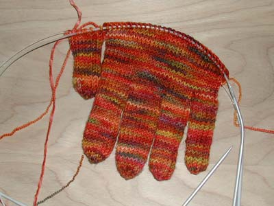 Nonaknits I Cord Gloves 3rd Installment